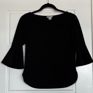 BAR lll XS black Bell Sleeve blouse